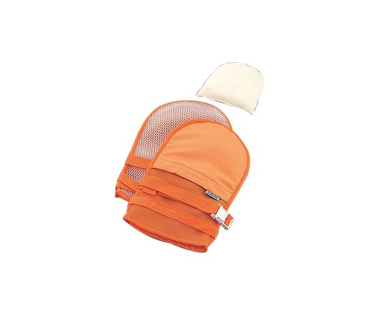 抜管防止手袋 中 メッシュ オレンジ 中オレンジ