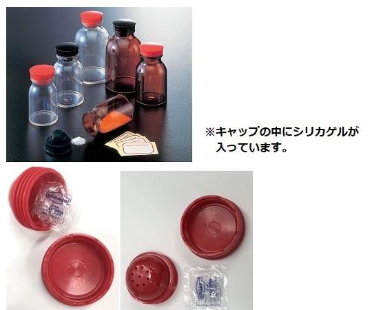 散薬瓶 150mL 透明 キャップ赤 1本 150mL(透明)