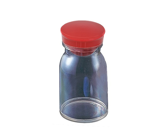 散薬瓶 300mL 透明 キャップ赤 1本 300mL(透明)
