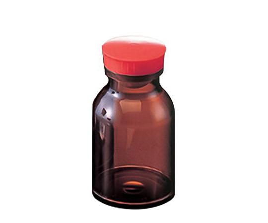 散薬瓶 300mL 茶褐色 キャップ赤 1本 300mL(茶褐色)