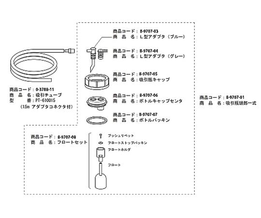 [取扱停止]エマジン(R)小型吸引器用交換部品 吸引チューブ