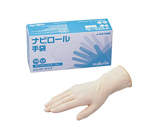ナビロール手袋(エコノミータイプ・パウダーフリー) S 100枚入