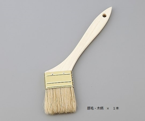 ハケ 豚毛・木柄 毛幅30mm