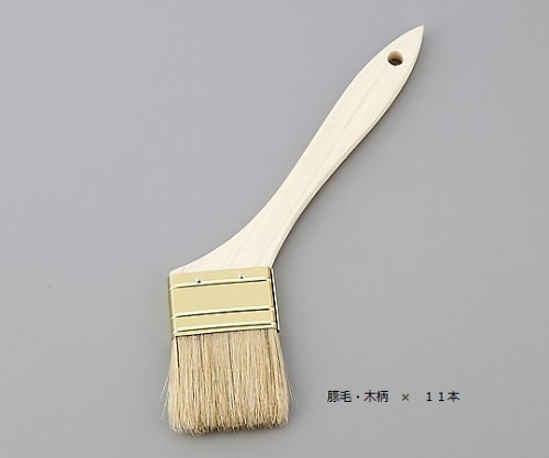 [取扱停止]ハケ 豚毛・木柄 70mm 1箱(11本入)