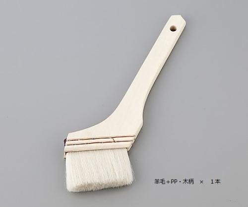 ハケ 羊毛/PP毛・木柄 毛幅30mm