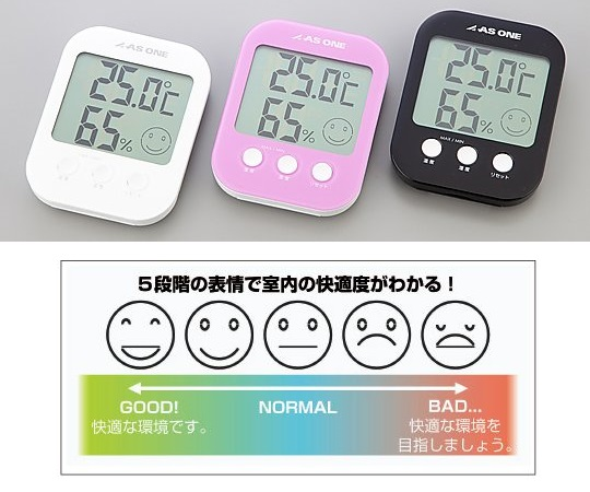 温湿度計 白