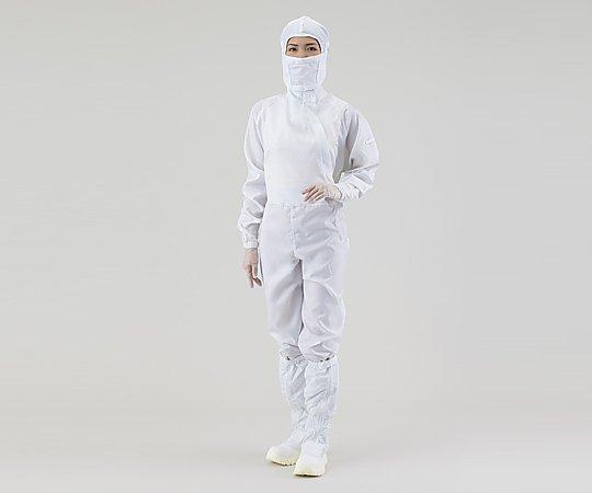 アズピュアCRウェア(フード別・サイドファスナー型) 白 M 22210SW