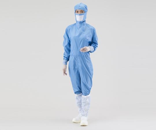アズピュアCRウェア(クリーンウェア) 22210SB(フード別・サイドファスナー) 青