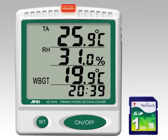 デジタル温湿度SDデータロガー