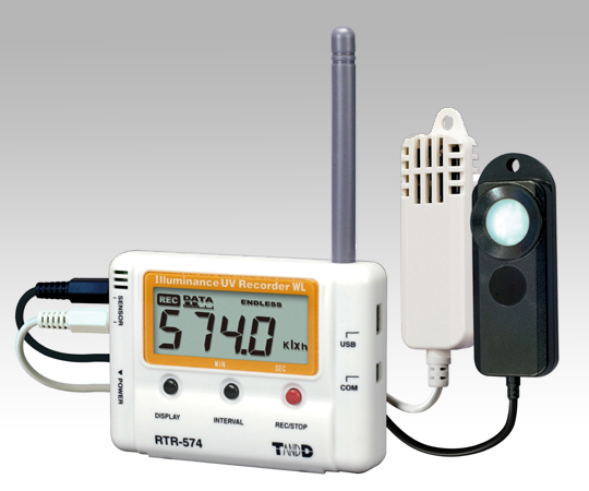 [Discontinued]ONDOTORI Wireless Data Logger (Cordless Handset) Temperature, Humidity, And Illuminance, UV x 1ch Each High-Precision and Wide Range Type RTR-574-H