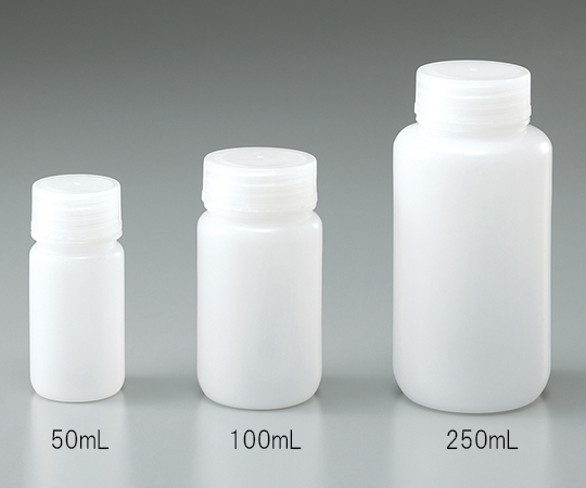 広口瓶 HDPE製 500mL(ケース販売)