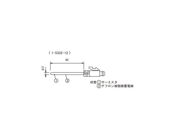 Temperature Sensor Fluororesin Coated Short Sensor φ2.2mm TR-5101
