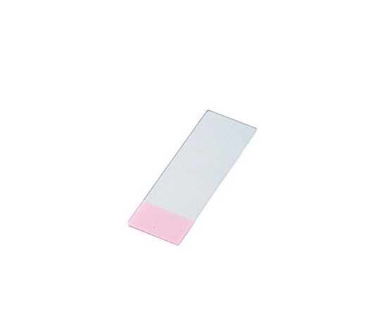 剥離防止コートスライドグラス(MAS-GP typeA) S9913 26×20mm ピンク 100枚入