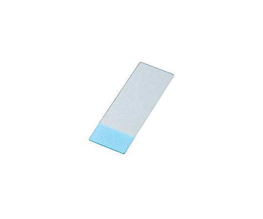 剥離防止コートスライドグラス(MAS-GP typeA) 26×20mm ブルー 100枚入 S9914