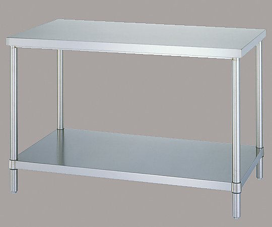 [取扱停止]ステンレス作業台 (SUS304・ベタ棚仕様) 1200×600×800