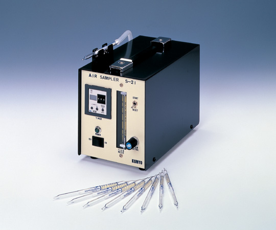 [取扱停止]エアーサンプラ(室内汚染測定用)S-21 <校正証明書・試験成績書・トレーサビリテイ体系図 付>