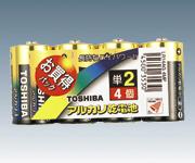 アルカリ電池 LR14AG 4MP(単2)