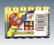 [取扱停止]アルカリ電池 LR03AG 6MP(単4)
