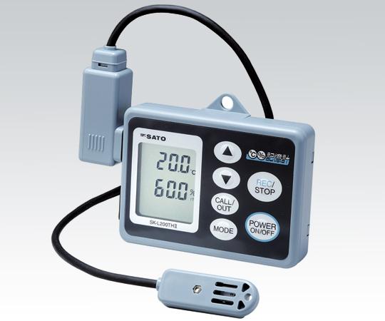 記憶計(R)SK-L200THⅡα(温湿度分離型、JCSS校正証明書付)