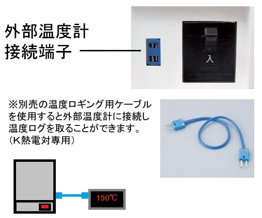 定温乾燥器 自然対流式(左開き扉)窓付 ステンレス SONW-300S (出荷前点検検査書付き)