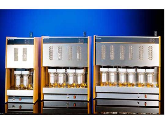自動ソックスレー抽出装置(脂肪抽出用) 250×410×580mm SOX412 自動2連タイプ