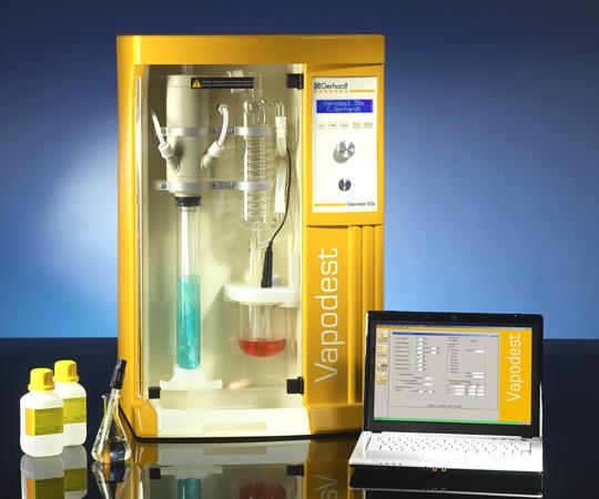 ケルダール蒸留装置 ベーパーデス・システム 自動滴定タイプ VAP50s