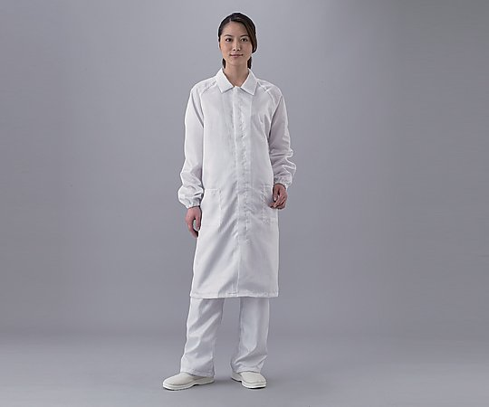 アズピュアクリーンルームコート ファスナータイプ 白 2L S2367-Z