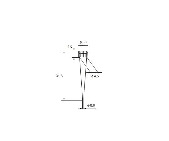 マイクロピペット用チップ 0.1~10μL 960本入 00-BMT2-UTWR