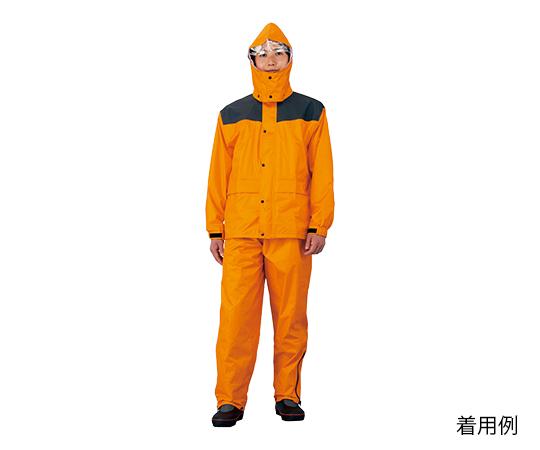レインウェア(耐久補強高圧防水) L PVCコーティング オレンジ