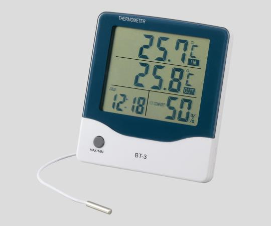 アラーム時計付大画面温湿度計BT-3