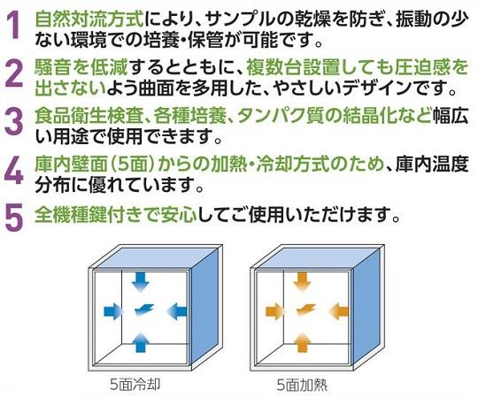 [取扱停止]クールインキュベーター(i-CUBE) 測定孔無し HOT&COOL FCI-280