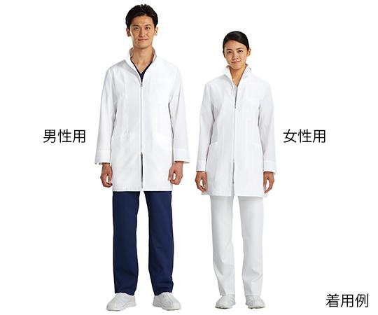ジップアップ白衣ハーフコート