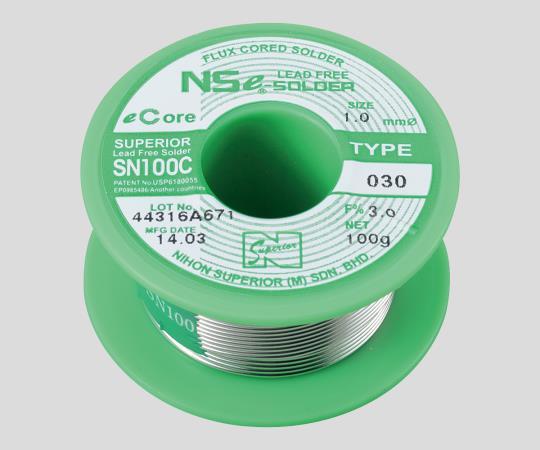 鉛フリーやに入りはんだ φ0.8mm SN100C(030)F3