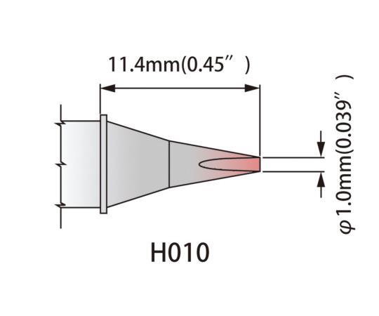 [取扱停止]温度はんだごて用 こて先 K80CH010 420~475℃