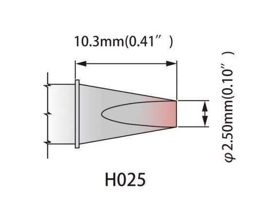 温度はんだごて用 こて先 K60CH025 325~358℃