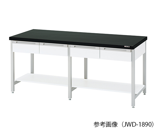 作業台 (スチール製・両面引出し付き) 2400×900×800mm JWD-2490