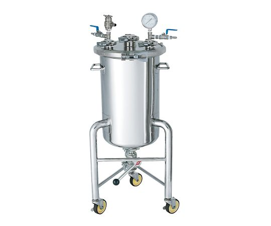 Stainless Steel Pressurized Vessel (Pressurization Unit With Casters) 50L PCN-F-L-50-UT