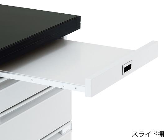サイド実験台 (木製タイプ・スライド棚付き) 3000×750×800 mm SOA-3075SD