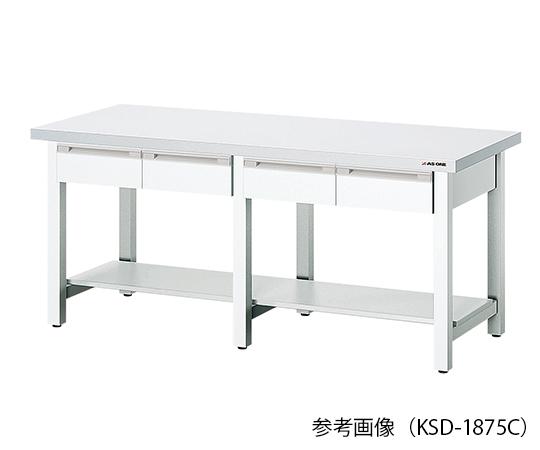 セラミック天板作業台 (片面引き出し付) 1500×750×800mm KSD-1575C