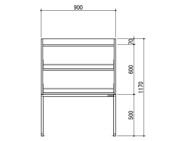 [取扱停止]試薬棚(スチールタイプ) TOB-900-SB