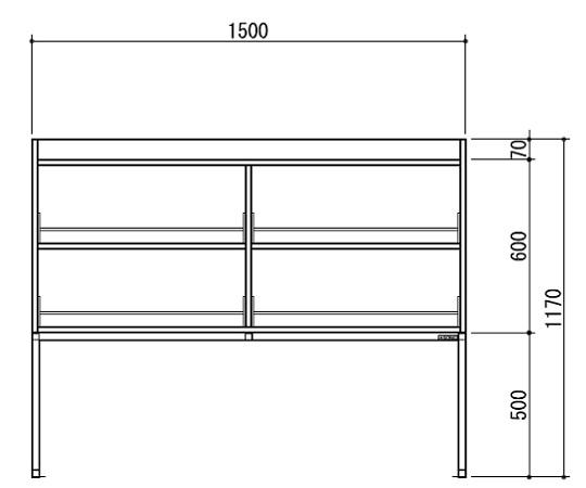 [取扱停止]試薬棚(スチールタイプ) TOB-1500-SB