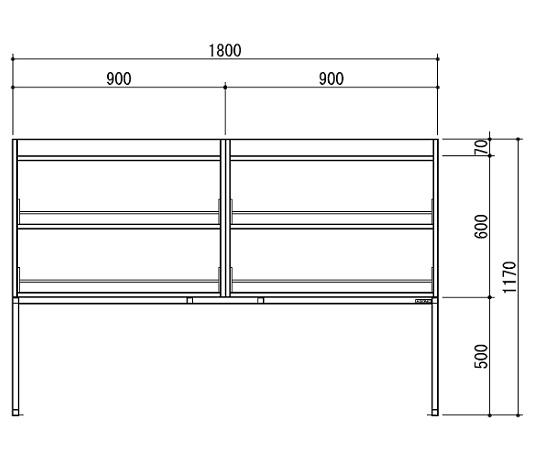 [取扱停止]試薬棚(スチールタイプ) TOB-1800-SB