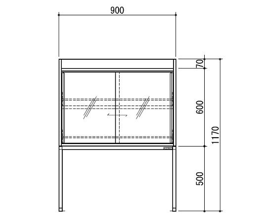 試薬棚(スチールタイプ) TEB-900-SB TEB-900-SB