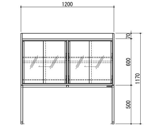 [取扱停止]試薬棚(スチールタイプ) TEB-1200-SB