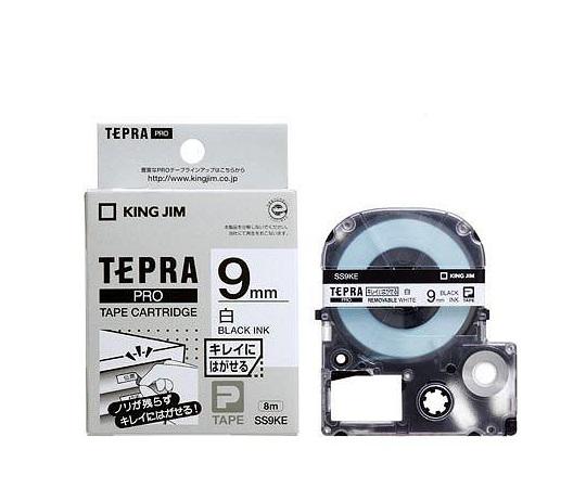 テプラ専用 テープカートリッジ ホワイト(弱粘着) SS9KE 等