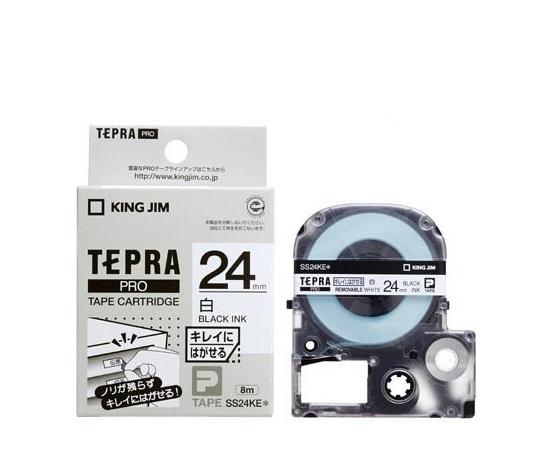 テプラ専用 テープカートリッジ ホワイト(弱粘着) SS24KE 等