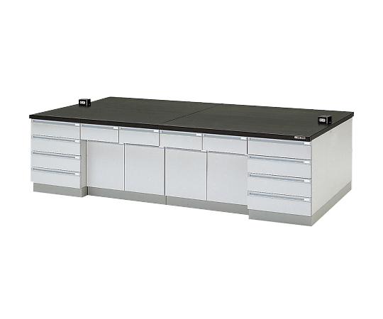 中央実験台 木製タイプ・ケコミ型 3600×1200×800 SAOA2-3612