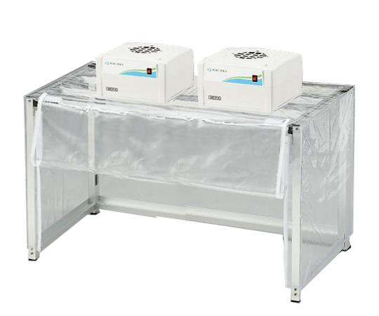 折りたたみ簡易型クリーンブース(殺菌・酵素フィルター付) ファンユニット2台付  OKCSK1000