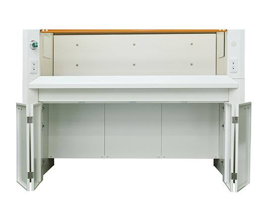 ヒュームフード ディープ (折れ扉付きタイプ・エポキシ天板) 1200×980×2250 mm