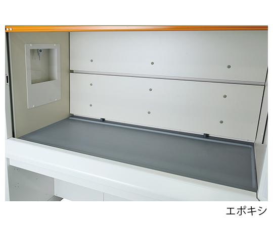 ヒュームフード ディープ (折れ扉付きタイプ・エポキシ天板) 1800×980×2250 mm ABDI-1800